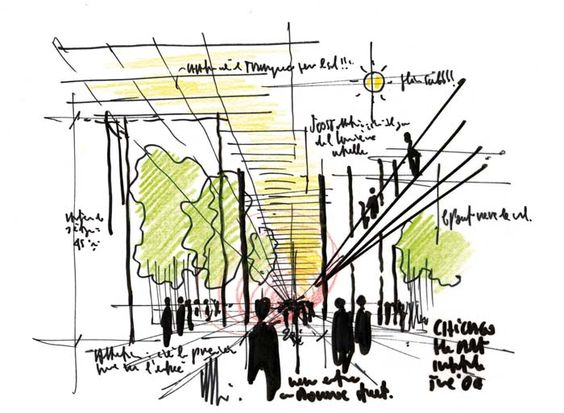 Renzo Piano的#sketch #architecture
